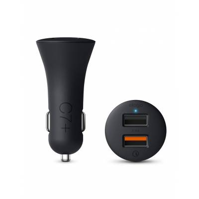 C7+ Dual Car Charger (Quick Charge 3.0 Technology)