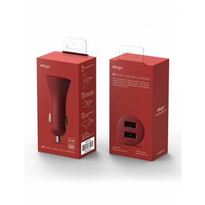 Elago C7 3.1 Amp (2.1 Amp + 1.0 Amp) Dual USB Car Charger