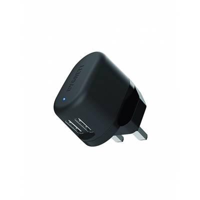 Cygnett Flow Wall Charger Dual USB 5v 2.4A Black EU