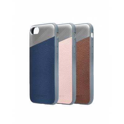 Cygnett - Brushed Aluminum Leather Element Protective Case for Apple iPhone 7 Plus & 8 Plus