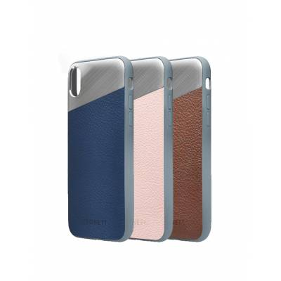Cygnett - Brushed Aluminum Leather Element Protective Case for Apple iPhone X