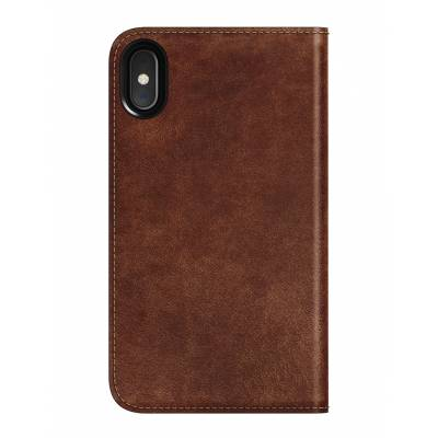 Nomad - Folio Case for iPhone X / XS - Rustic Brown Leather
