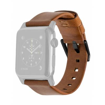Nomad - Leather Strap for 42mm Apple Watch  - (Black Hardware)